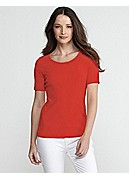 Scoop Neck Slim Tee in Organic Cotton Baby Rib