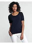 Petite Scoop Neck Slim Tee in Organic Cotton Baby Rib