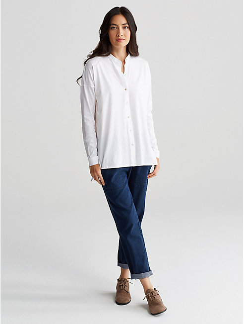 Organic Cotton Jersey Boxy Shirt