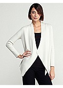 Plus Size Angle Front Jacket in Silk Cotton Interlock