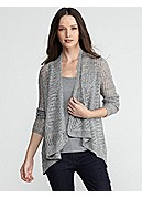 Angle Front Long Cardigan in Airy Rustic Speckle