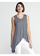 Petite Soft V-Neck Tank in Silk Cotton Jersey