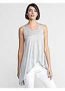 Plus Size Soft V-Neck Tank in Silk Cotton Jersey