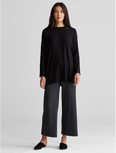 Wool Jersey Wide-Leg Pant