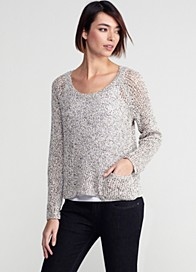 Speckled Cotton Knit