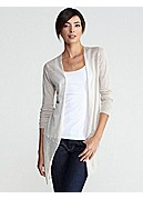 Straight Long Cardigan in Superfine Linen Knit