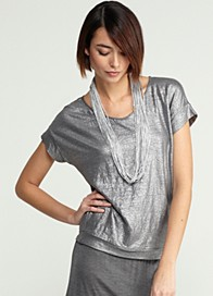 Drapey Metallic Knit