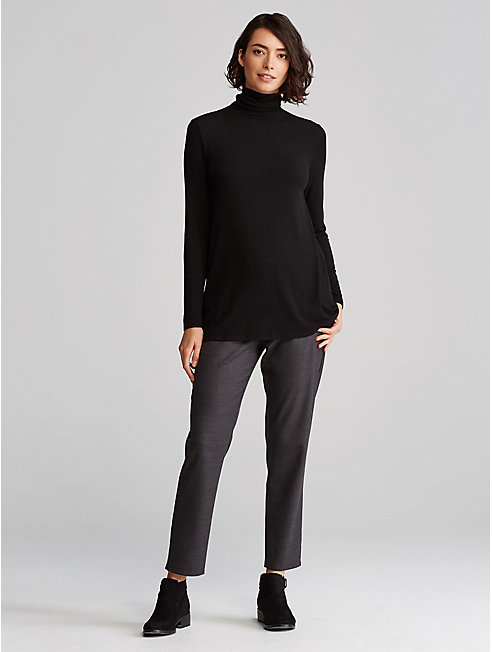 Tencel Cashmere Turtleneck Top