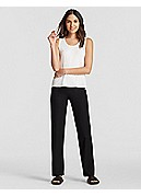 Straight-Leg Pant with Yoke in Washable Stretch Crepe