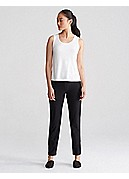 Plus Size Slim Ankle Pant with Yoke in Washable Stretch Crepe