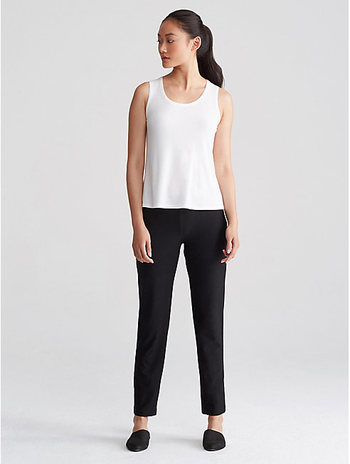 System Washable Stretch Crepe Slim Pant