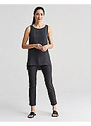 Slim Ankle Pant with Yoke in Washable Stretch Crepe