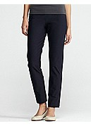Petite Slim Ankle Pant with Yoke in Washable Stretch Crepe