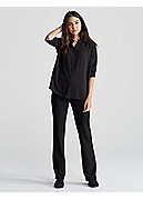 Plus Size Slim Boot-cut Pant with Yoke in Washable Stretch Crepe