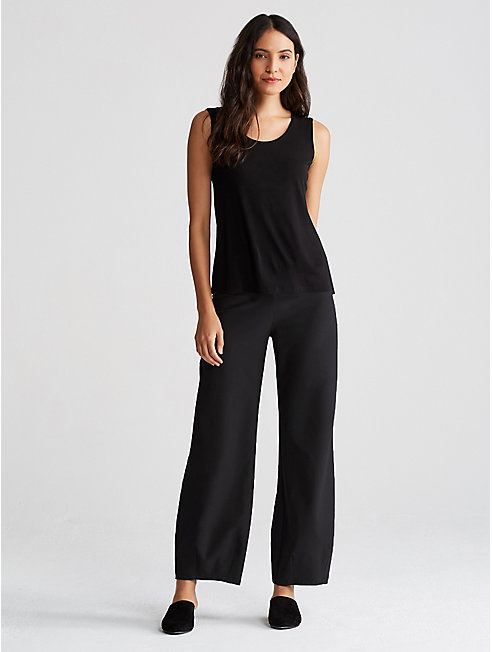Washable Stretch Crepe Lantern Pant
