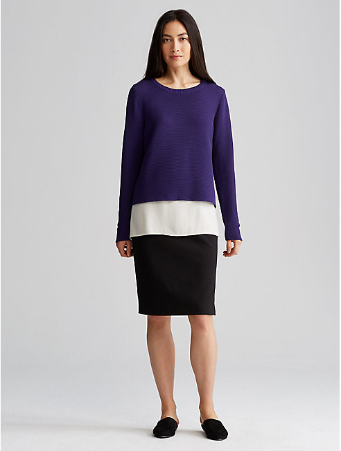Tencel Stretch Ponte Pencil Skirt