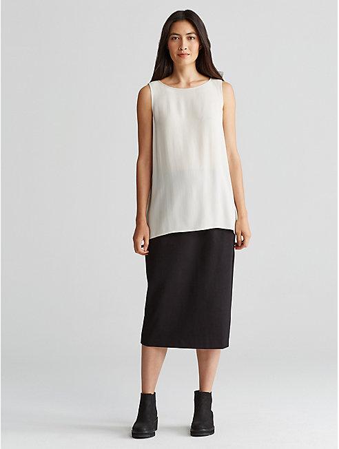Tencel Stretch Ponte Pencil Skirt