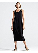 Plus Size Scoop Neck Oval Tank Dress in Viscose Jersey