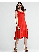 Petite Cowl Neck Knee-Length Dress in Viscose Jersey