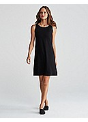Ballet Neck Knee-Length Shift Dress in Viscose Jersey
