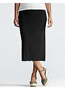 Plus size Full-Length Pencil Skirt in Viscose Jersey