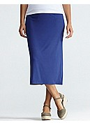 Full-Length Pencil Skirt in Viscose Jersey