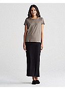Fold-Over Maxi Skirt in Viscose Jersey