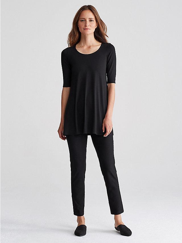 Plus Size Black Tunic Dress Plus Size Scoop Neck Tunic