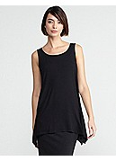 Scoop Neck Sleeveless Tunic in Viscose Jersey