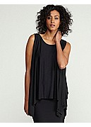 Ballet Neck Poncho Top in Lightweight Viscose Jersey