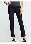 Slim Pant with Cuff in Linen Viscose Stretch
