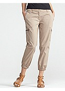 Cropped Cargo in Washed Cotton Tencel Twill