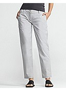 Tapered Ankle Pant in Washed Cotton Tencel Twill