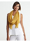 Wrap with Color Edging in Whisper Silk