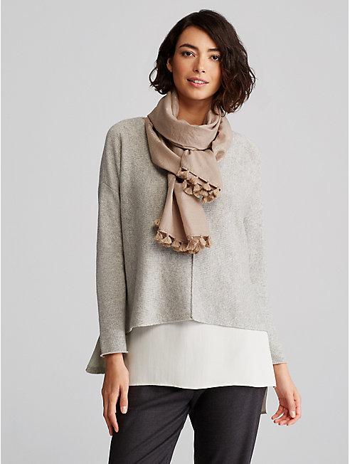 Handloomed Wool Stripe Scarf