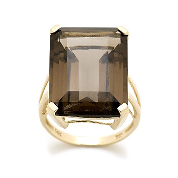 Ross-Simons - 20.00 Carat Smoky Carat Ring In 14kt Yellow Gold :  quartz ross gift gold