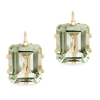 Ross-Simons - 10.00 Carat Green Amethyst Leverback Earring In 14kt Yellow Gold :  ross gemstone amethyst green