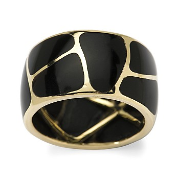 Ross-Simons - 8-10mm Black Onyx Inlay Band In 14kt Yellow Gold - %23230777