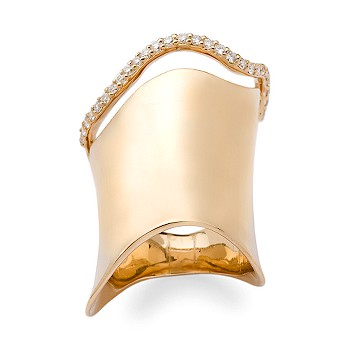 Ross-Simons - .35 ct. t.w. Diamond Wave Ring In 18kt Yellow Gold - Jewelry, Rings, Clearance