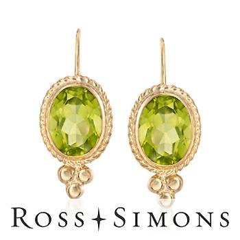 2.70 ct. t.w. Peridot and 14kt Yellow Gold Drop Earrings peridot drop earrings