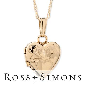 Child's 14kt Yellow Gold Heart Locket Necklace. 13""