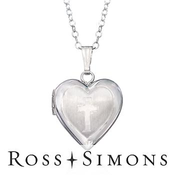 Child's Sterling Silver Heart Locket Necklace. 15""