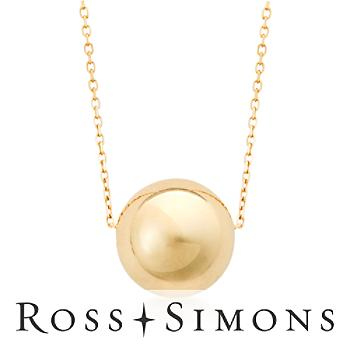 14kt Yellow Gold Sphere Necklace