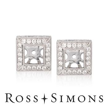 1.05 ct. t.w. Diamond Earring Jackets in 14kt White Gold