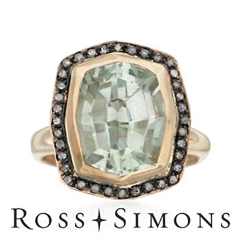 5.00 Carat Green Amethyst and .11 ct. t.w. Diamond Ring in Two-Tone