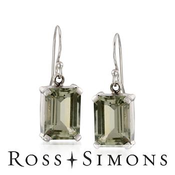 15.70 ct. t.w. Green Amethyst Drop Earrings in Sterling Silver
