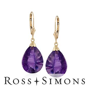16.00 ct. t.w. Amethyst Earrings in 14kt Yellow Gold