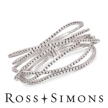 7.65 ct. t.w. Diamond Criss-Cross Bracelet in 18kt White Gold. 7 border=