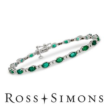 3.95ct t.w. Emerald, .70ct t.w. Diamond Bracelet in Gold. 7""