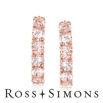 2.50 ct. t.w. Morganite Hoop Earrings In Sterling Silver